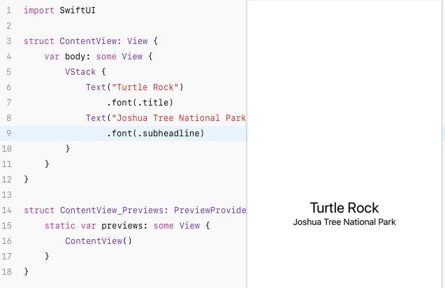 ตัวอย่างการใช้ SwiftUI เขียนข้อความ